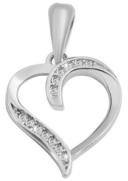 Giulia Luna-Halskette Anhänger Herz Liebe Love 925er Silber Strass GL5210086