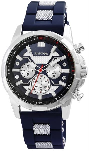 Raptor Herren-Uhr Armband Silikon Metall Leuchtzeiger Analog Quarz RA20279