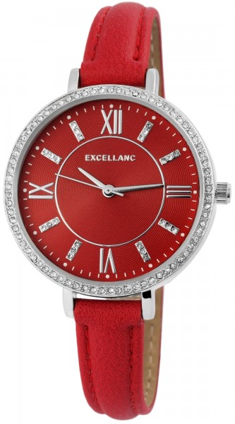 Excellanc Damen – Uhr Lederimitations Armbanduhr Analog Quarz 1900174