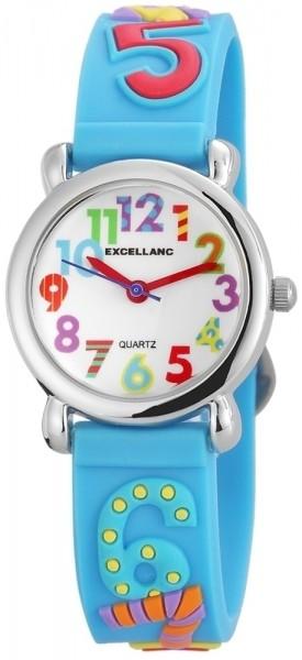 Excellanc Kinder-Uhr Silikonarmband Dornschließe Lernuhr Analog Quarz 4500020