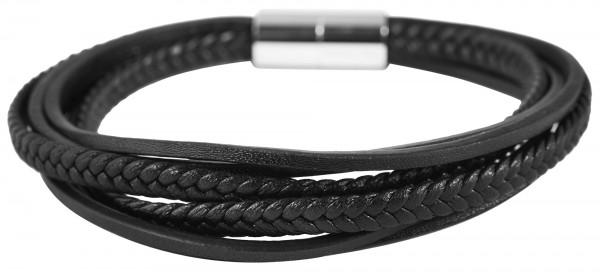 Akzent Unisex - Armband aus Echtleder mit Edelstahl Länge 21,5 cm 5040257