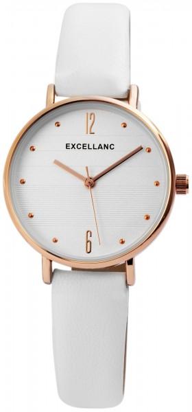 Excellanc Damen-Uhr Lederimitat Dornschließe Eleganz Analog Quarz 1900150