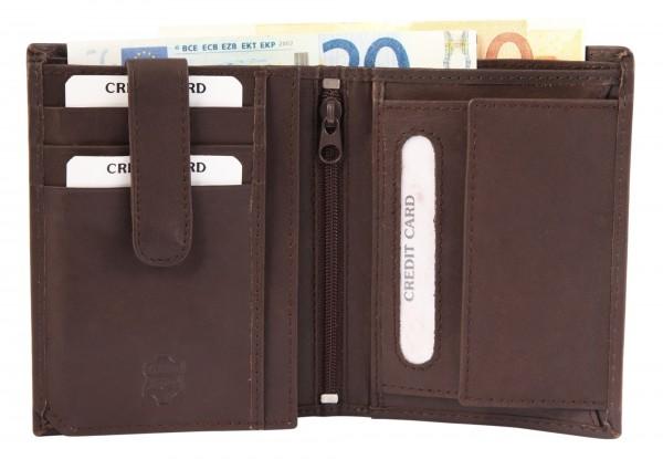 Excellanc Herren-Geldbörse Echt Leder 9,5 x 12,5 cm Hochformat 3000194