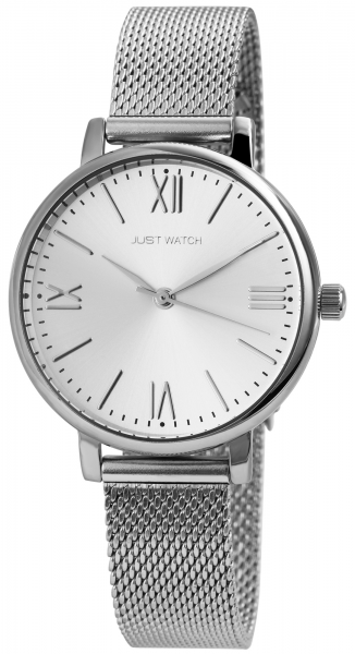 Just Watch Damen-Uhr Milanaisearmband Edelstahl Armbanduhr Analog Quarz JW10075