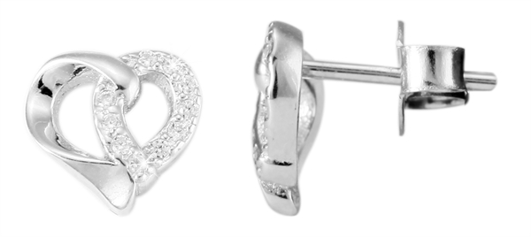 Giulia Luna Damen –Ohrstecker 925er Silber rhodiniert Ohrringe Strass GL5200015