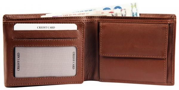 Excellanc Herren-Geldbörse Echt Leder 12 x 9,5 cm Querformat RFID 3000372