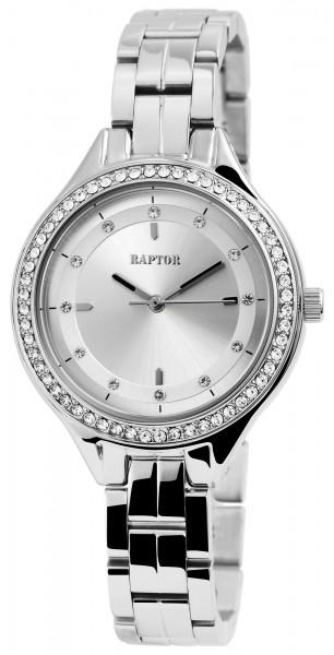 Raptor Damen-Uhr Edelstahl Armband Strass-Stein Elegant Analog Quarz RA10167