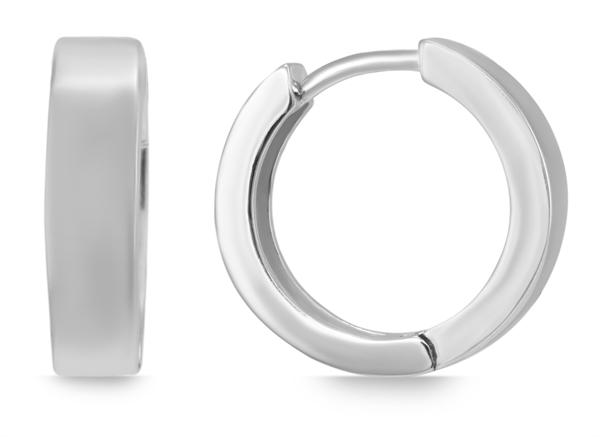Giulia Luna Damen – Creolen 925er Silber rhodiniert Ohrringe GL5200069