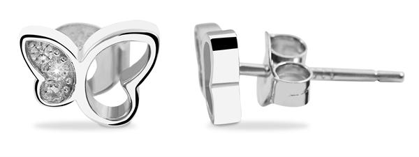 Echt Silber Ohrringe, 925/rhodiniert, 0,9g