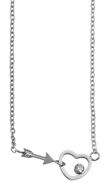 Akzent Damen - Halskette Amore Anhänger Edelstahl Ankerkette 43+5cm 5010269