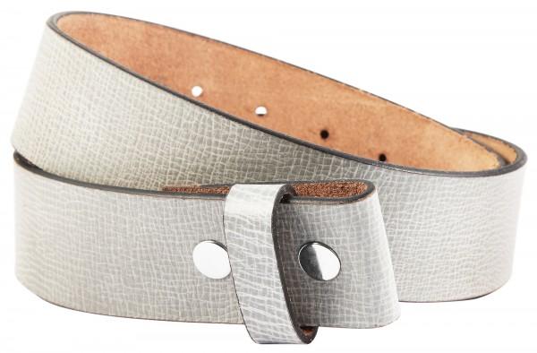 Leonardo Verrelli Echtleder Gürtel, grau, passend zu unseren Wechselschnallen