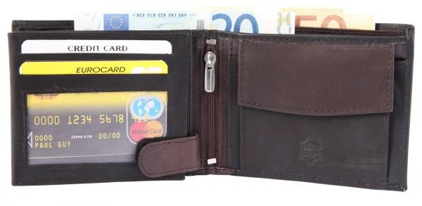 Excellanc Herren-Geldbörse Echt Leder 12 x 9,5 cm Querformat 3000201