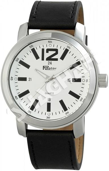 Raptor Unisex - Uhr Armband Oberseite Echt Leder Analog Quarz RA20066