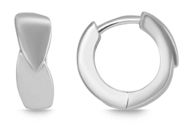 Giulia Luna Damen – Creolen 925er Silber rhodiniert Ohrringe GL5200072
