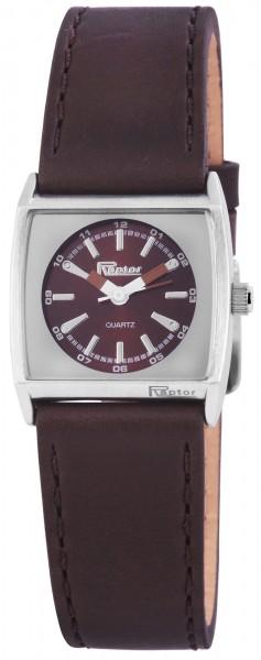 Raptor Damen-Uhr Echtleder Armbanduhr Analog Quarz RA10097