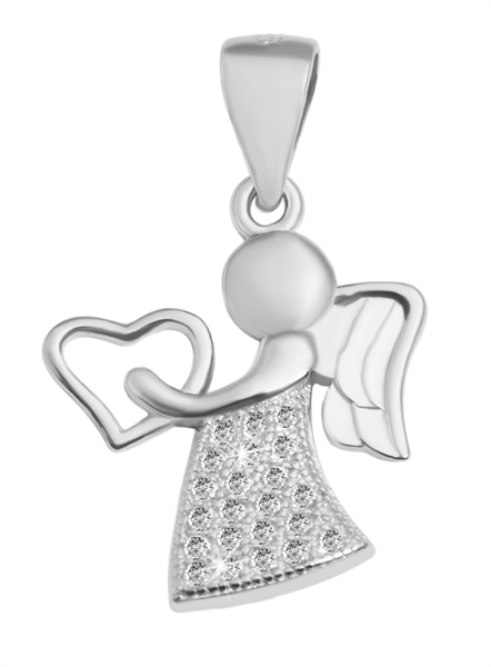 Giulia Luna Damen-Halskette Anhänger Engel Schutz Liebe 925er Silber GL5210039