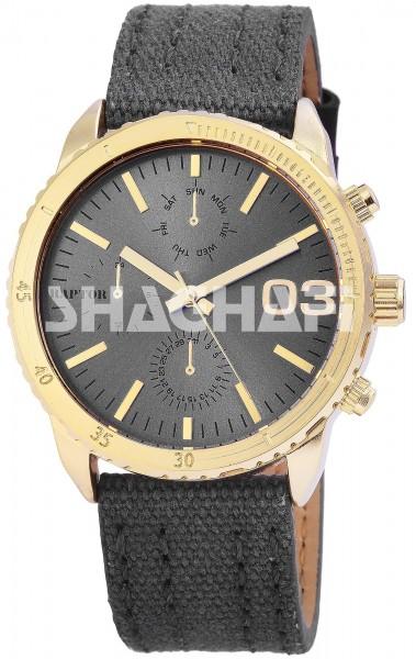 Raptor Unisex-Uhr Textilarmband Dornschließe Analog Quarz RA20054 Armbanduhr
