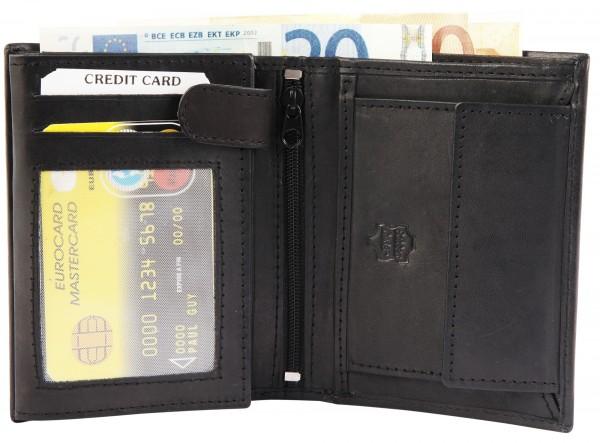 Excellanc Herren-Geldbörse Echt Leder 9 x 12 cm Hochformat 3000197