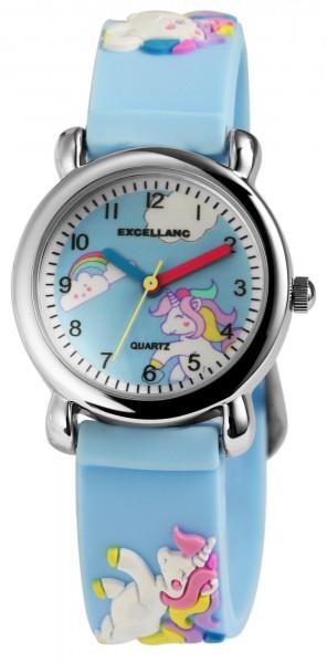 Excellanc Kinder - Uhr Silikon Armbanduhr Dornschließe Analog Quarz Einhorn