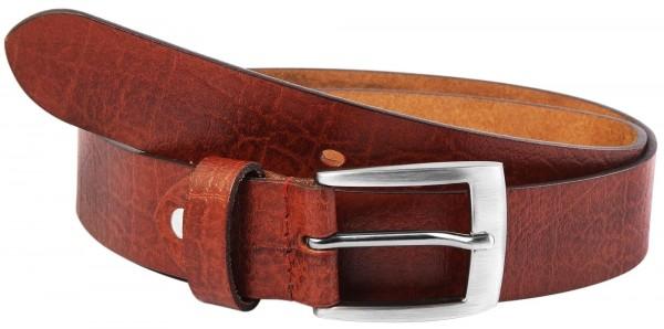 Leonardo Verrelli Herren - Gürtel aus Leder Braun kürzbar 100 cm 3100021