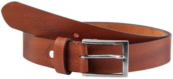 Leonardo Verrelli Herren - Gürtel aus Leder Hellbraun kürzbar 100 cm 3100018