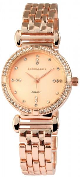 Excellanc Damen-Uhr Metallarmband Clipverschluss Analog Armbanduhr Quarz 1800040