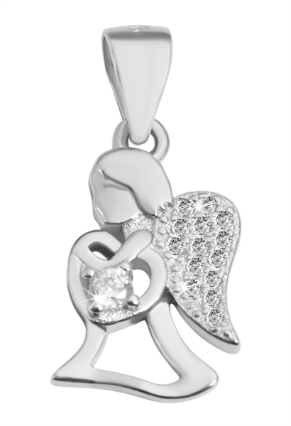 Giulia Luna Damen-Halskette Anhänger Engel Liebe Glaube 925er Silber GL5210038
