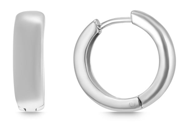 Giulia Luna Damen – Creolen 925er Silber rhodiniert Ohrringe GL5200070