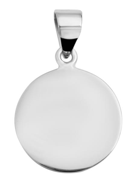 Giulia Luna-Halskette Anhänger Rund Elegant Plättchen 925er Silber GL5210071