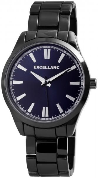 Excellanc Herren-Uhr Gliederarmband Metall Leuchtzeiger Analog Quarz 2800044