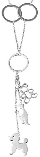 Akzent EdelstahlAkzent Anker-Halskette aus Edelstahl, silberfarbig, Länge 60 cm / Stärke 2 mm aus Ed