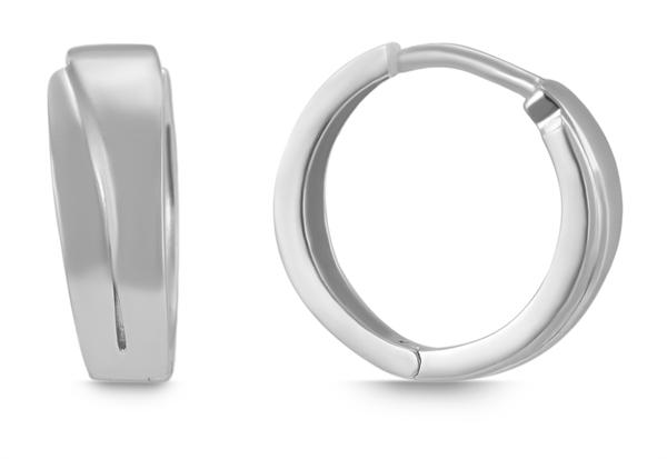 Giulia Luna Damen–Creolen Elegant Edel 925er Silber rhodiniert Ohrringe GL5200076