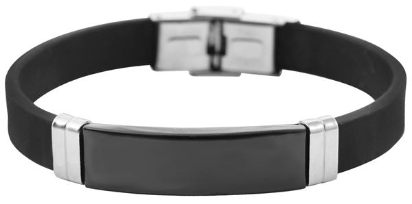 Akzent Unisex-Armband Gravur Silikon Edelstahl 5030499