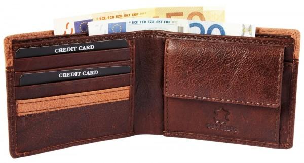 Leonardo Verrelli Herren-Geldbörse Echtleder 9x11cm Querformat 3000115