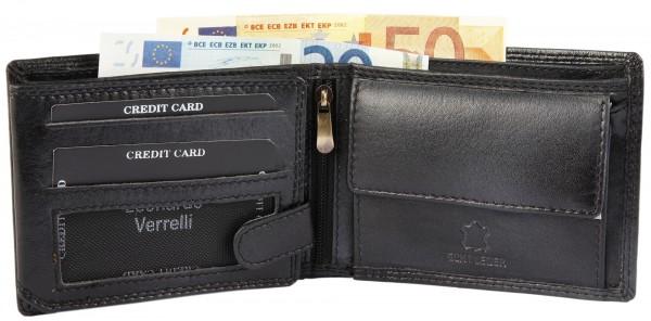 Leonardo Verrelli Herren-Geldbörse Echtleder 9x12cm Querformat 3000117