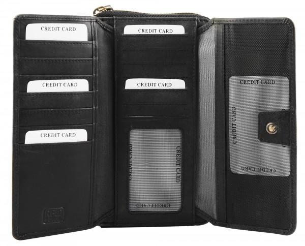 Leonardo Verrelli Damen Geldbörse aus Echtleder Format 19 x 11 cm
