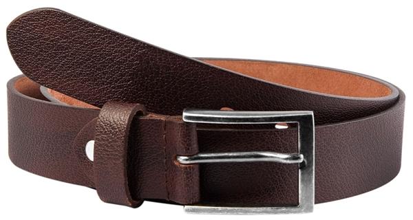 Leonardo Verrelli Echt Leder Gürtel, braun, kürzbar