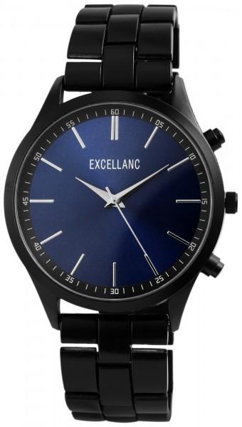 Excellanc Herren-Uhr Gliederarmband Metall Faltschließe Analog Quarz 2800034