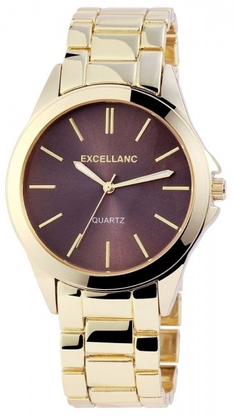 Excellanc Damen – Uhr Armbanduhr Metall Faltschließe Analog Quarz 1800014