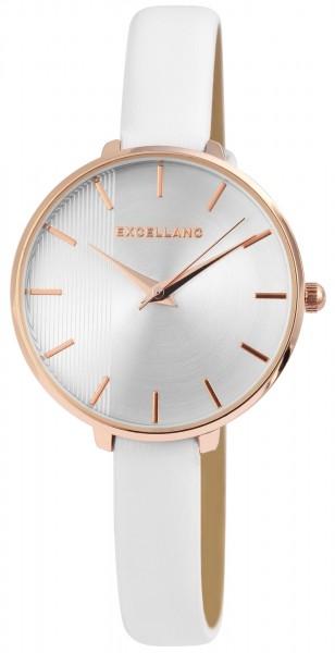 Excellanc Damen-Uhr Lederimitat Dornschließe Klassisch Analog Quarz 1900145