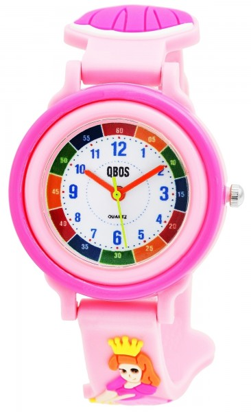 QBOS Kinder-Uhr Silikon Prinzessin Lernuhr Analog Quarz 4500025