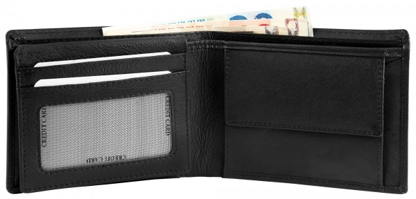 Excellanc Herren-Geldbörse Echt Leder 12 x 9,5 cm Querformat RFID 3000373