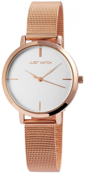 Just Watch Damen-Uhr Milanaisearmband Edelstahl Armbanduhr Analog Quarz JW10080