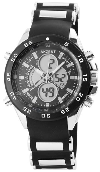 Akzent Herren - Uhr Analog Digital Datum Armbanduhr 2800022