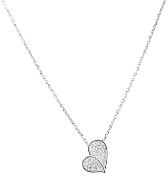 Giulia Luna Damen-Halskette Anhänger Herz Liebe 925er Silber Strass GL5210011