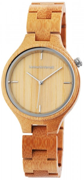 Leonardo Verrelli - Damen Holz Armbanduhr Analoganzeige Quarzwerk 1800132