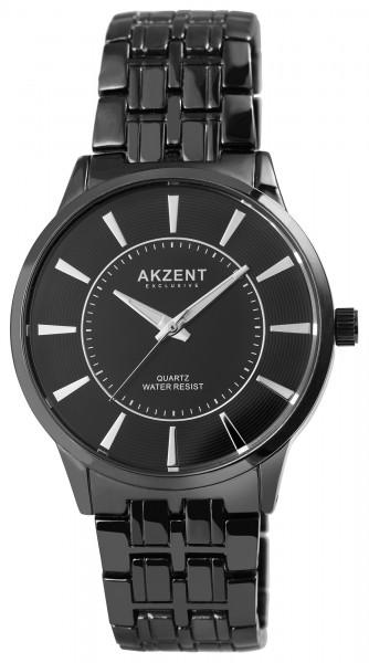 Akzent Exclusive Herren - Uhr Metall Armbanduhr Klassisch Analog Quarz 2800068