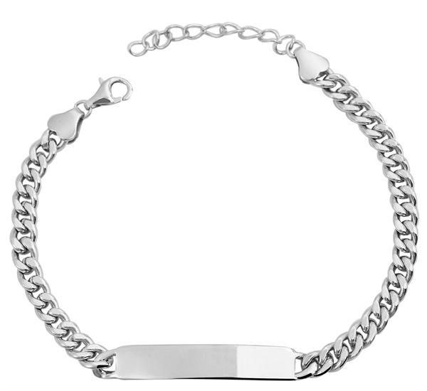 Echt Silber Armband , 14+3cm, 925/ rhodiniert, 6g
