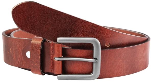 Leonardo Verrelli Herren - Gürtel aus Leder Braun kürzbar 110 cm 3100026