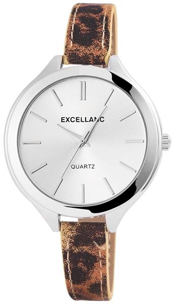Excellanc Damen-Uhr Lederimitation Tier Print Analog Quarz 195022600192